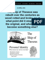 Ship of Theseus Was Rebuilt Over the Centuries F