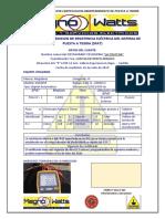 Certificado de Medicion de Resistencia Eléctrica Del Sistema de Puesta a Tierra (1)