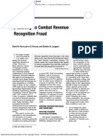 Auditing to Comabt Revenue Recognition Fraud