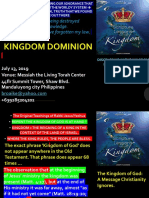 DOMINION PRINCIPLES of the KINGDOM Ongoing Work of the Holy Spirit Ruach Shemitah July 13 2019