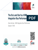 The Dos and Donts of IBM Integration Bus Performance - Wed 040315 315pm