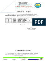 Certification for Year End Bonus & Cash Gifts