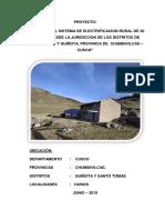 1. Memoria Descriptiva 30 Localidades de electrificacion rural