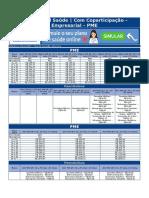 Tabela Plano de Saude Empresarial Amil Saude Com Coparticipacao Pe