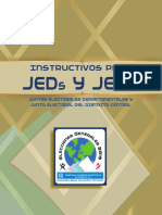 Instructivo JED´s y JEDC 2,019, TSE Guatemala