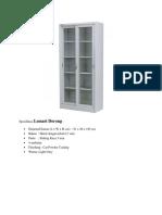 Spesifikasi Lemari DPPKB 2019