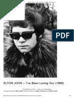 ELTON JOHN – 'I'Ve Been Loving You' (1968) – Delubravestra