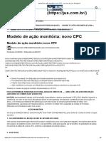 Modelo de Ação Monitória - NCPC