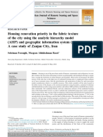 Housing renovation priority in the fabric texture of the city using the analytic hierarchy model (AHP) and geographic information system (GIS)