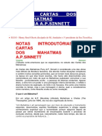 As Cartas Dos Mahatmas - A.p.sinnett