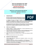 Bases de La Convocatoria de Evaluación Peritos2019