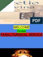 Lectio Divina (Paraliturgical Service)