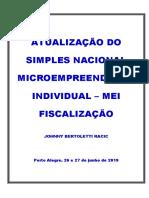 Apostila Curso Atualização Do Simples Nacional Microempreendedor Individual – Mei Fiscalização - Até o Dia 24 de Junho de 2019 - Johnny - Copia.docx