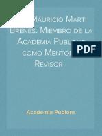 Cv. Mauricio Marti Brenes