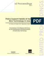 Policy Support Needs of Hybrid Rice Technology in Asia