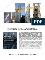 Efectos P delta en análisis modal