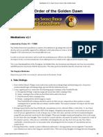 07.Meditations v2.1 _ Open Source Order of the Golden Dawn