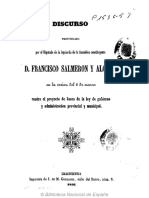 Discurso Pronunciado Por El Diputado de La Asamblea Constituyente D Francisco Salmeron Alonso 1856