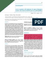 Costos e impacto económico del síndrome de apnea-hipopnea obstructiva del sueño para la salud pública