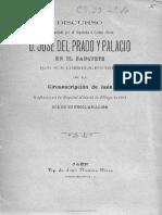 Discurso Pronunciado Por El Diputado a Cortes Electo D Jose Del Prado y Palacio 23 de Mayo de 1901