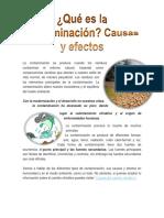 La Contaminación Se Produce Cuando Los Residuos Contaminan El Entorno Natural