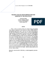 13. Probing the Decision Behind Induced Abortion in the Philippines Aurora E. Perez 2003 2