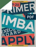 IMBA A.Y. 2019-2020 Primer