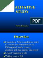 Sharing Qualitative Study Materials 2018