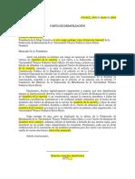 Modelo Carta de Desafiliación USM
