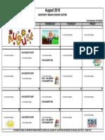 8 - 2019 August Activities Calendar - Univ Manor