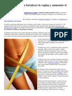 10 Ejercicios Para Fortalecer La Vagina y Aumentar El Placer