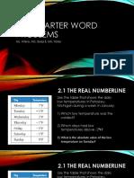 2nd quarter word problems-alg a
