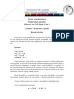 Guia 7. Ecuaciones Lineales