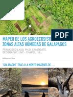 Mapeo de agroecosistemas y zonas altas humedas de Galápagos