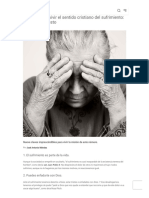 9 Claves Para Vivir El Sentido Cristiano Del Sufrimiento - Revista Misión.