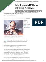 Viral Acharya_ High Govt Debt Forces NBFCs to Borrow Short-term_ Acharya, Auto News, ET Auto 24072019