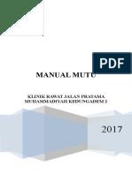 Manual Mutu Klinik
