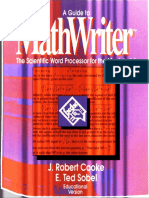 MathWriter Guide Educ