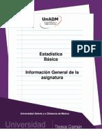 Informacion General de la Materia
