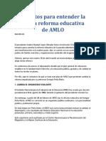9 Puntos Para Entender La Nueva Reforma Educativa de AMLO