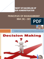 BBA 301 Decision Making