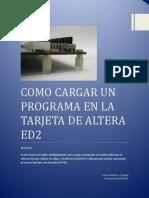 Manual como cargar programa Tarjeta ED2