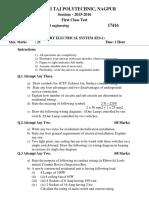IES-1-17416 First Class Test PAPER 1