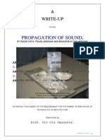 Propagation of sound