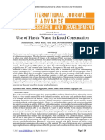 paper on plastic to road