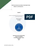 Skripsi - Analisa Perhitungan Bangunan Dengan Metode Etabs v.9.7.2