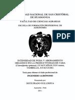 INTENSIDAD DE PODA Y ABONAMIENTO_TARA