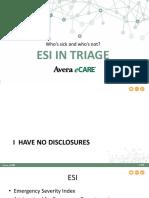 ESI in Triage Presentation