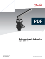 Quick Closing Oil Drain Valve, Type QDV 15