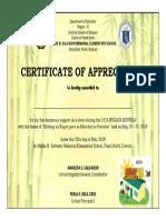 Certificate of Appreciation Brigada